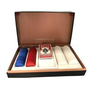 Vintage Poker Cards and Chips Set